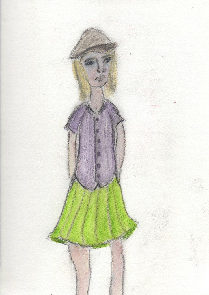 girl in a skirt