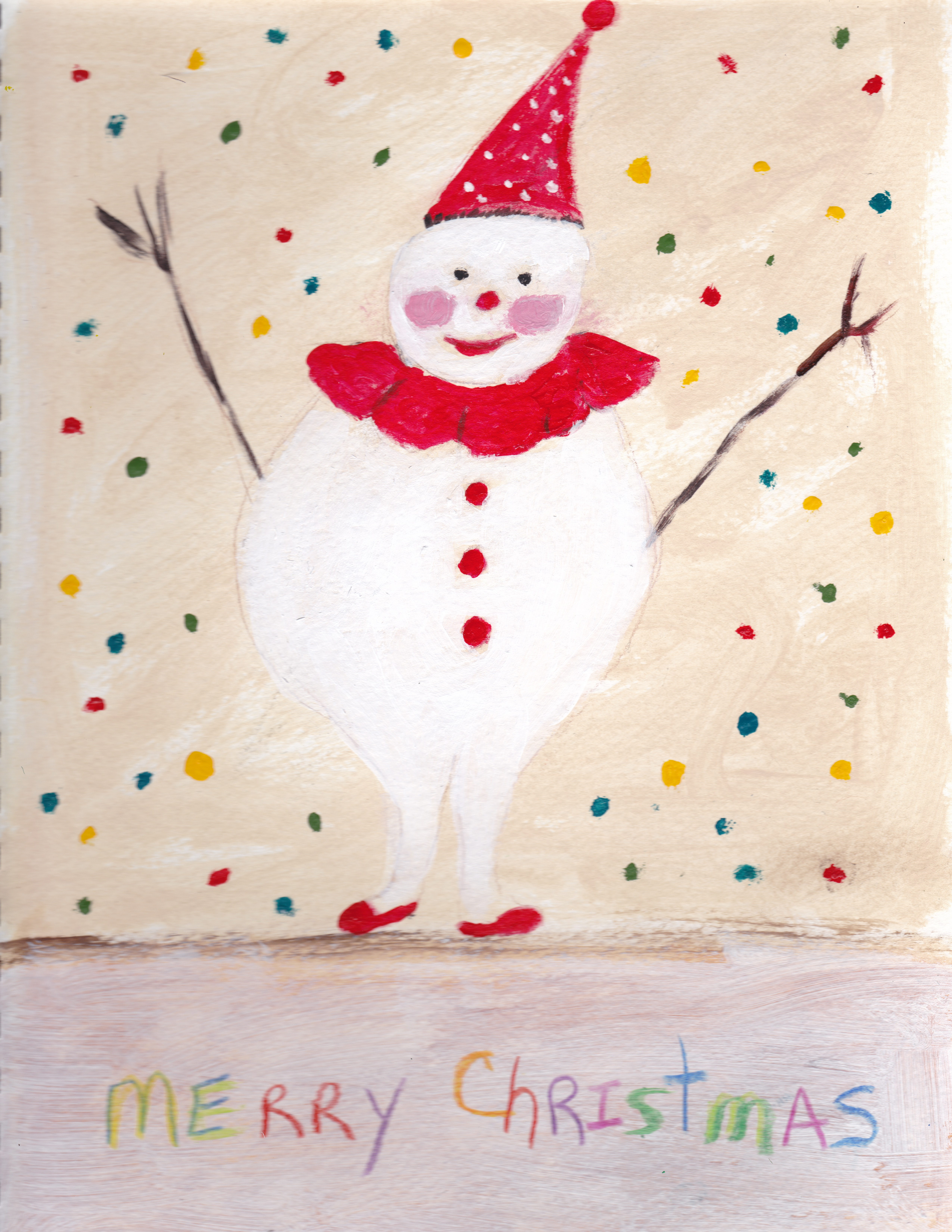 Merry Christmas from the sketchbook (2014) acrylics