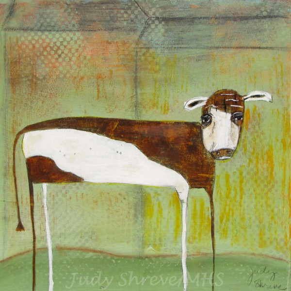 The Barnyard Cow (12x12):Judy Shreve