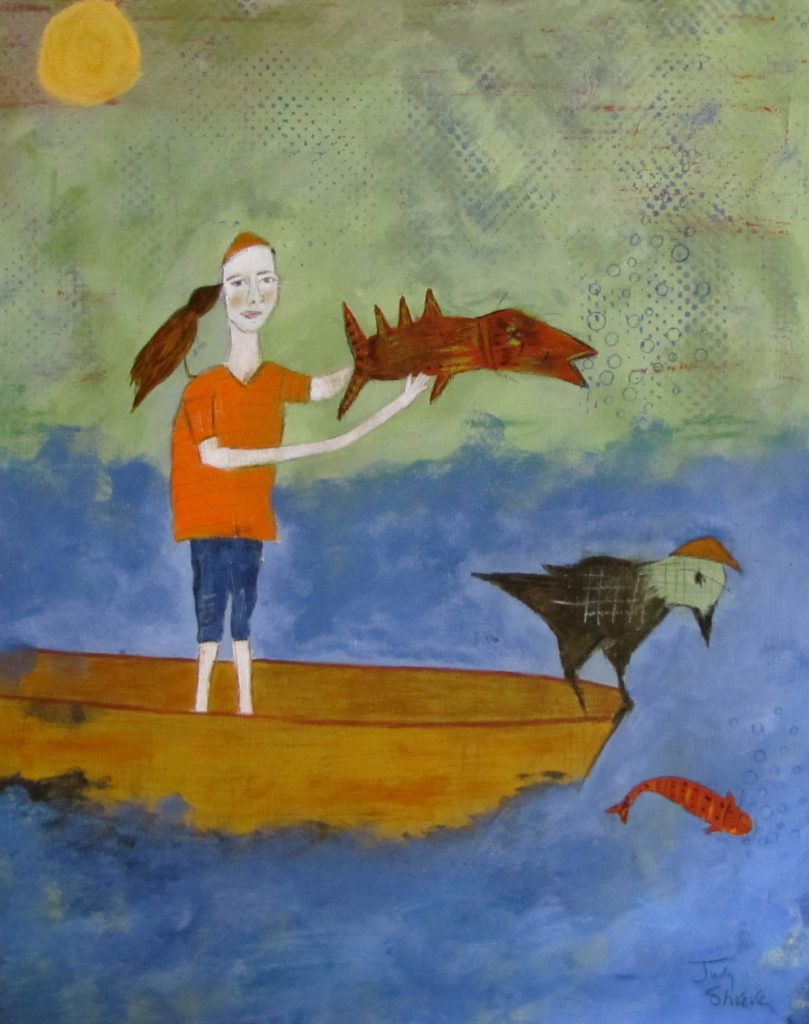 How to Catch The Really Big Fish (22.5x18)